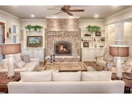 55 rustic brick fireplace living rooms
