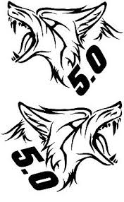 Mustang Gt 5 0 Coyote Vinyl Decal Sticker Left And Right Ebay