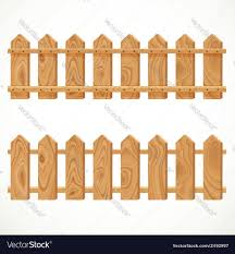 Wooden Fence From Short Planking Royalty Free Vector Image