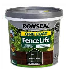 Ronseal One Coat Fence Life 5l Forest Green Decora Adore Your Home