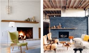 mid century modern fireplace makeover