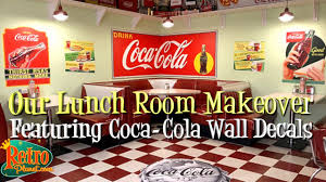 Diy Home Decor Making A Retro Coca Cola Diner With Wall Decals Youtube