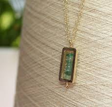 green emeralds 9ct gold rectangle