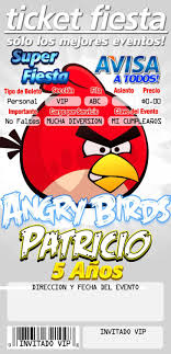 Angry Bird Invitations In Spanish Invitaciones Infantiles