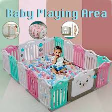 Baby Playpen Fence For Kids Children Babes Safety Barrier Play Area Place Yards Ebay