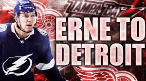 Adam Erne TRADED To Detroit Red Wings (Tampa Bay Lightning Trade W/  Redwings - 2019 NHL Trades) - YouTube