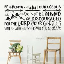 Bible Verse Joshua 1 9 Wall Sticker Quotes Vinyl Decals Be Strong And Courageous Words Boy Kids Room Home Decor Wallpapers Lc397 Decor Wallpaper Vinyl Decalbible Verse Aliexpress