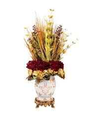 Creative Displays Burgundy & Gold Grass, Rose, & Hydrangea in Oriental Urn,  19x40x22 | Home furnishings, Home furniture, Faux florals
