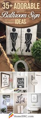 35 Best Bathrooms Sign Ideas And Designs For 2020