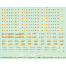 Nswr Southern Aurora Carriages Decals 1 87 Ho 1 160 N Waterslide Ebay