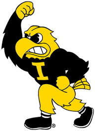 University Of Iowa Herky Mascot Vinyl Car Decal