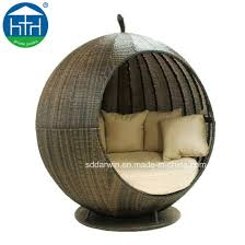 pe rattan daybed furniture round chaise