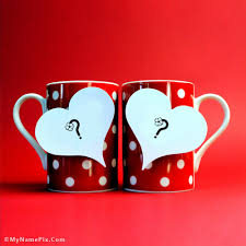 write name on love mugs picture