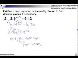 common logarithm examples