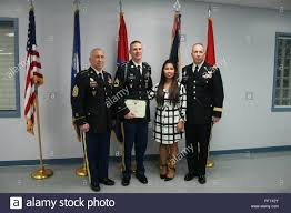 Command Sgt. Maj. John Stumph (left), senior noncommissioned ...