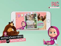 Masha Y El Oso Invitacion Virtual En Video Whatsapp Unica 400
