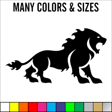 Lion Cat King Of Jungle Car Window Decal Laptop Sticker Etsy