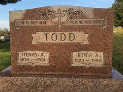 Ruth Adeline Lewis Todd (1920-1993) - Find A Grave Memorial