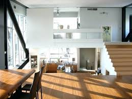 split level living room house interior