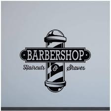 Amazon Com Bulnn Barbershop Sign Wall Decal Window Door Decal Haircuts Shaves Poster Barber Vinyl Sticker Salon Decor Office Barber Shop Art 47x42cm Kitchen Dining