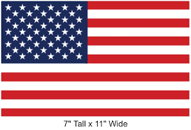 Amazon Com Securepro Products Large 7 X 11 Rectangular United States American Flag Decal Sticker Super Premium Quality Heavy Duty 3m Usa Vinyl Die Cut Screen Printed Adhesive On Back Kitchen Dining