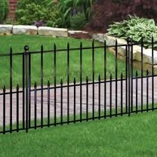 No Dig Empire Empire 2 42 Ft H X 3 15 Ft W Black Steel Pressed Point Decorative Fence Panel Lowes Com Steel Fence Metal Fence Panels Fence Panels