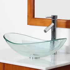 tempered glass oval vessel bathroom