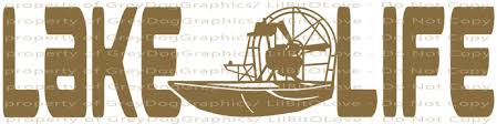 Lake Life Airboat Air Boat Vinyl Decal Sticker By Lilbitolove On