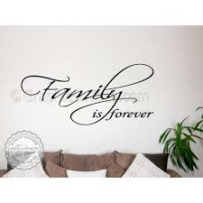 Family Is Forever Quote Inspirational Family Wall Art Sticker Home Decor Decal