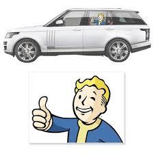 Fallout 4 Vault Boy Thumbs Up Passenger Series Driver S Side Car Decal Fallout 4 Vault Boy Vault Boy Car Decals