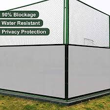 Amazon Com Coarbor 5 X20 Privacy Fence Screen Cover Mesh Blocker With Brass Grommets 180gsm Heavy Duty Fencing For Outdoor Back Yard Patio And Deck Backyard Garden Blocking Neighbor Light Grey Customized Garden