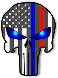 Amazon Com Punisher Police Military And Fire Thin Line Usa Flag Decal American Flag Sticker Blue Green And Red S American Flag Sticker Flag Decal Window Vinyl