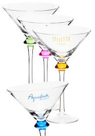 martini glasses party favors