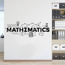 Mathematics Sign Wall Murals Math Education Wall Vinyl Decals Classroom Decor Mathematics Motivational Poster Wall Art Az974 Wall Stickers Aliexpress