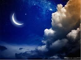 3d خلفيات الطبيعة Hd 3d الخيال يلة السماء القمر الغيوم سقف