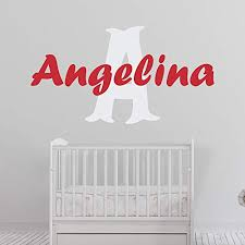Amazon Com Girl S Custom Name And Initial Wall Decal Choose Your Own Name Initial And Letter Styles Multiple Sizes Baby Wall Stickers For Girls Wall Decor Custom Name Initial Wall Decal Girl S