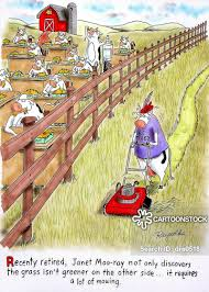 Grass Is Greener Cartoons And Comics Funny Pictures From Cartoonstock