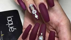burgundy matte coffin nails new