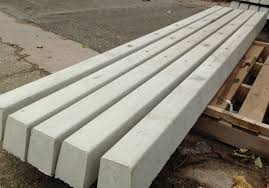 Decking Fencing Posts Pack Of 6 Concrete Fence Posts Slotted Concrete Posts 109mm X 94mm X 2440mm 8ft Waoc Bio