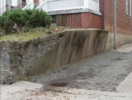 concrete retaining wall restoration process