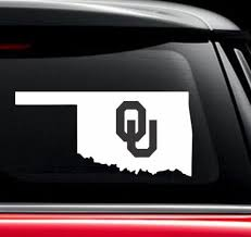 Oklahoma Sooners Ou State Window Decal Sticker Custom Sticker Shop