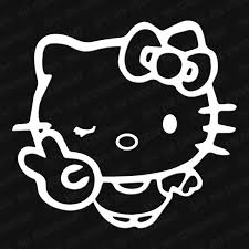 Hello Kitty Peace Sign Vinyl Decal The Stickermart