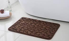 pebbles massage bath rug set groupon