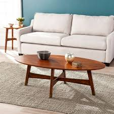 oval mid century modern coffee table