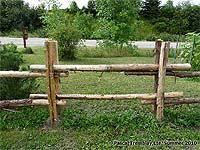 Build A Rustic Fence Diy Log Fences Country Fences Rustic Garden Fence Rustic Fence Garden Fence Panels