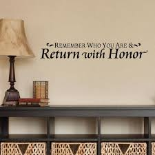 Wall Quotes Wall Decal Return With Honor Traditional Home Etsy