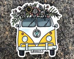 Vw Bus Decal Etsy