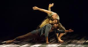 LADP's Aaron Carr, Morgan Lugo and Robbie Moore in Sibi Larbi Cherkaoui's  'Harbor Me'. Photo by Laurent Philippe. - Dance Informa Magazine