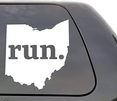 Amazon Com Ohio Run Decal Ohio Oh Run Decal State Running Decal Car Decal Yeti Decal Laptop Decal Window Decal Vinyl Decal Wall Window Door Car Truck Home Kitchen