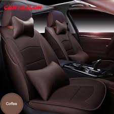 cartailor red cowhide leather car seats